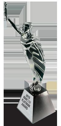 2015 MarCom Statuette Platinum