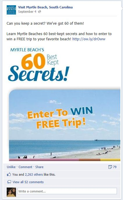 60 Secrets Facebook Post