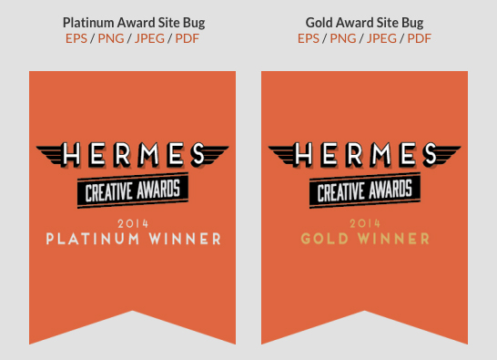 Hermes Creative Awards Website Badges