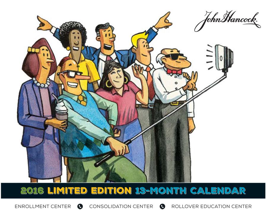 John Hancock 2016 Roland Calendar Cover