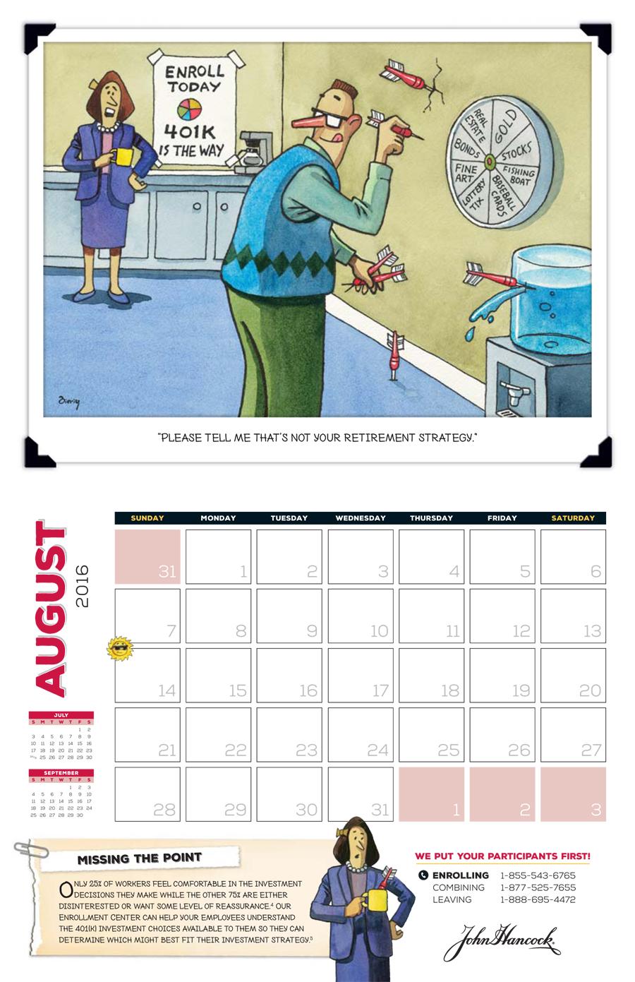 John Hancock 2016 Roland Calendar 10