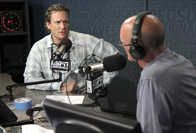 NHL players Mike Modano and Jeremy Roenick on SportsCenter with Scott Van Pelt