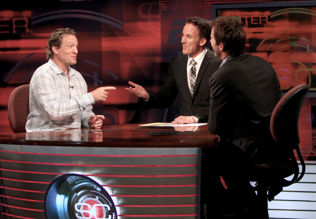 NHL players Mike Modano and Jeremy Roenick on SportsCenter with Jouhn Buccigross
