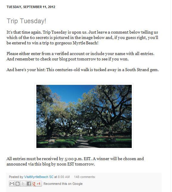 Trip Tuesday Brookgreen Blog Post