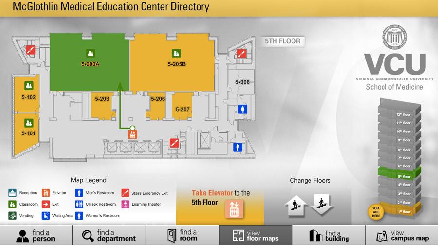 Visix-VCU-Interactive-Wayfinding-Kiosk