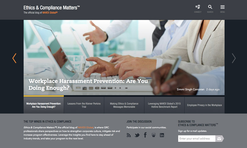 Ethics & Compliance Matters