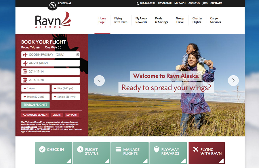 Ravn Alaska Website Redesign by Gere Donovan Creative