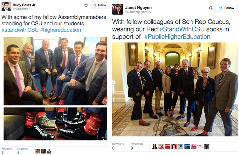 #standwithCSU-red-sock-campaign