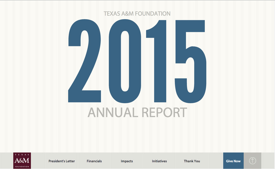 Texas A&M Foundation 2015 Annual Report
